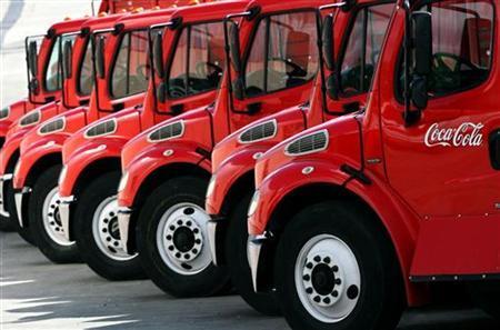 Coca-Cola supply trucks (Source: Reuters)